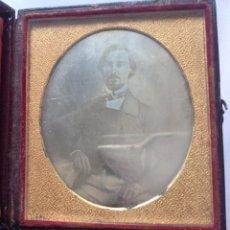 Fotografía antigua: S XIX * 1850´S – 1860´S * ANTIGUA FOTOGRAFÍA EN CAJA CERRADA DE UN CABALLERO. Lote 183482343