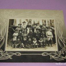 Fotografía antigua: ANTIGUA FOTOGRAFÍA ORIGINAL ACTO DE MOROS Y CRISTIANOS EN BOCAIRENTE - AÑO 1900-1920S.. Lote 184085187