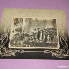 Fotografía antigua: ANTIGUA FOTOGRAFÍA ORIGINAL ACTO DE MOROS Y CRISTIANOS EN BOCAIRENTE - AÑO 1900-1920S.. Lote 184085258