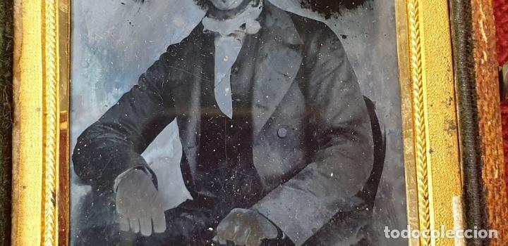 Fotografía antigua: FOTOGRAFÍA DE CABALLERO. AMBROTIPO SOBRE CRISTAL. GEORGE RUFF. SIGLO XIX. - Foto 6 - 184689070