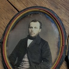 Fotografía antigua: DAGUERROTIPO DE CABALLERO, EPOCA ISABELINA. SIGLO XIX. Lote 186217783