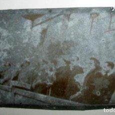 Fotografía antigua: CLICHÉ DE PRENSA. CARMEN POLO DE FRANCO INAUGURA HOGAR AUXILIO SOCIAL. MIERES, ASTURIAS, 1949.. Lote 187098380