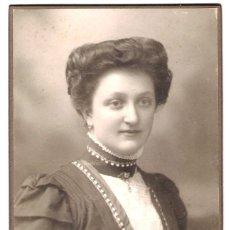 Fotografía antigua: FOTOGRAFÍA DE DAMA DE ÉPOCA - FOTÓGRAFO: HANS MILTZ - MÜNCHEN - S.XIX.- XX. Lote 188777293