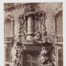 Fotografía antigua: VALENCIA - 896. PORTADA DEL MARQUÉS DE DOS AGUAS. FOTO: J. LAURENT. 25X33,5 CM.. Lote 190715498