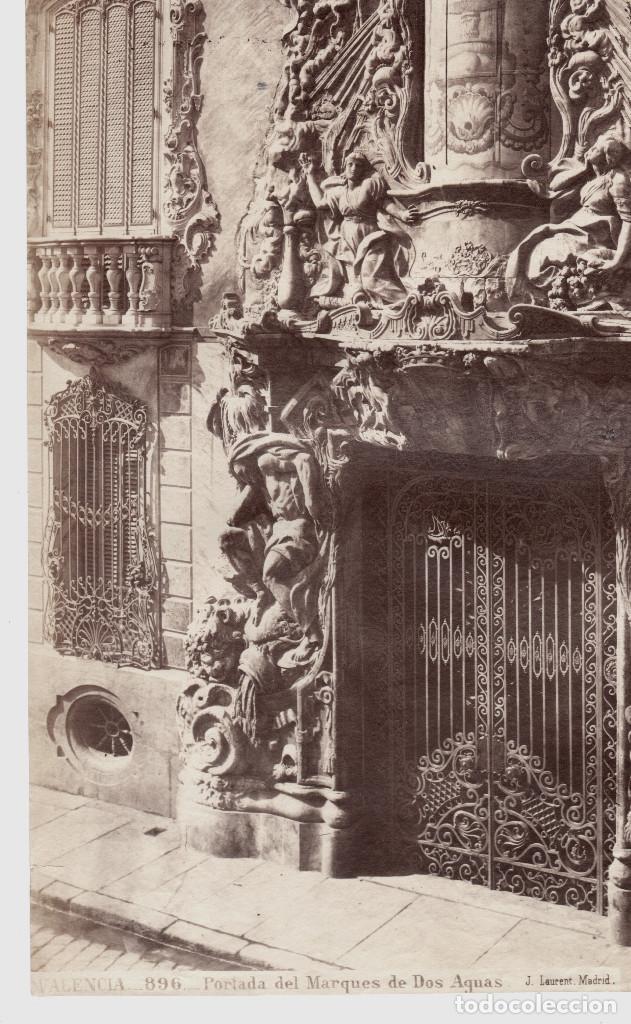 Fotografía antigua: VALENCIA - 896. PORTADA DEL MARQUÉS DE DOS AGUAS. FOTO: J. LAURENT. 25x33,5 cm. - Foto 2 - 190715498