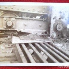 Fotografía antigua: FOTO LORA DEL RIO SEVILLA MONTAJE DL PUENTE SOBRE EL GUADALQUIVIR NOVIEMBRE 1929. Lote 191113692