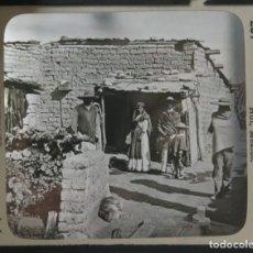 Fotografía antigua: KEYSTONE VIEW. HOME OF THE PEON. THE ADOBE HUT. MEXICO. 281. Lote 191170772