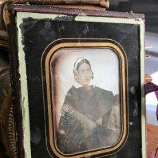 Fotografía antigua: IMPRESIONANTE DAGUERROTIPO DE SEÑORA DESCONOCIDA 1840 A 1850. Lote 191320028