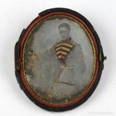 Fotografía antigua: DAGUERREOTIPO DE MILITAR - TAMAÑO 11X9 CM.. Lote 191792358
