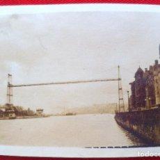 Fotografía antigua: FOTO PUENTE DE VIZCAYA BILBAO 1928. Lote 192816456