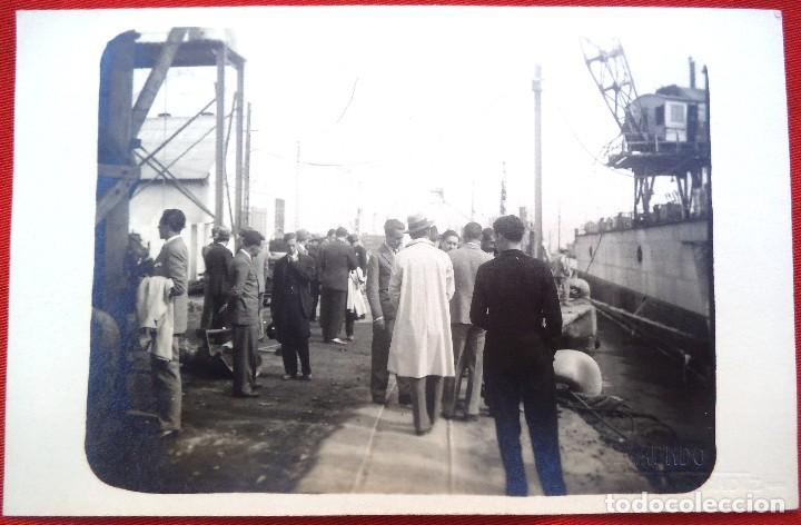 FOTO CADIZ , EN EL PUERTO1929, FOTO REYMUNDO (Fotografía Antigua - Ambrotipos, Daguerrotipos y Ferrotipos)