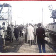 Fotografía antigua: FOTO CADIZ , EN EL PUERTO1929, FOTO REYMUNDO. Lote 192821035