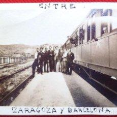 Fotografía antigua: FOTO ENTRE ZARAGOZA Y BARCELONA 1928. Lote 192823661