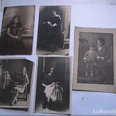 Fotografía antigua: LOTE DE CINCO FOTOGRAFÍAS PRINCIPIOS S.XX. POSADOS FEMENINOS Y NIÑOS.. Lote 193050553