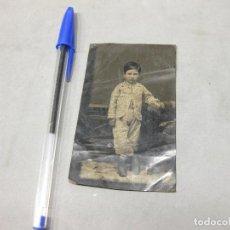 Fotografía antigua: FOTOGRAFÍA FERROTIPO DE UN NIÑO. Lote 193631160