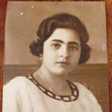 Fotografía antigua: FOTO ANTIGUA - DE ESTUDIO - DAMA DE LA EPOCA. Lote 193817103