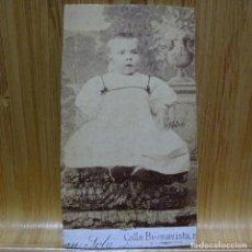 Fotografía antigua: ANTIGUA FOTOGRAFÍA FINALES DEL SIGLO XIX.JUAN SOLA.BARCELONA.. Lote 193863205