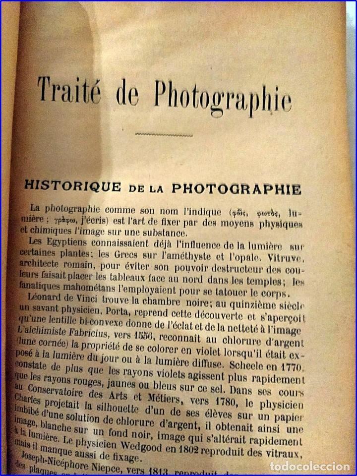 Fotografía antigua: Tratado de fotografía. libro del siglo xix. - Foto 4 - 195514678