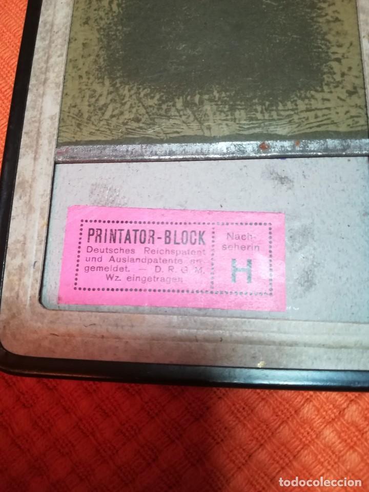 Fotografía antigua: PLACA METÁLICA PARA FOTOGRAFIA O COPIADORA. PRINTATOR. PIZARRA MÁGICA. - Foto 4 - 195745732