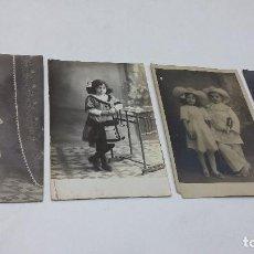 Fotografía antigua: COLECCION N 2 DE 4 FOTOGRAFIAS ESTUDIO. Lote 197949936