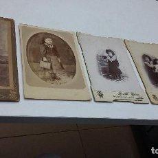 Fotografía antigua: COLECCION N 4 DE 5FOTOGRAFIAS ESTUDIO SOBRE CARTON DURO . Lote 197950707