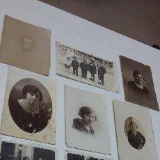 Fotografía antigua: COLECCION N 6 DE 10 FOTOGRAFIAS ESTUDIO . Lote 197990542