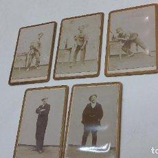 Fotografía antigua: COLECCION N 8 DE 5 FOTOGRAFIAS ANTIGUAS DAGUEROTIPO SOBRE CARTON DURO. Lote 197992396