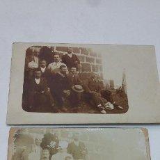 Fotografía antigua: COLECCION N 10 DE 2 FOTOGRAFIAS ANTIGUAS DAGUEROTIPO 2 SOBRE CARTON DURO. Lote 197994210