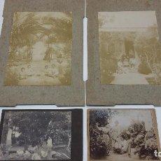 Fotografía antigua: COLECCION N 13 DE 4 FOTOGRAFIAS ANTIGUAS DAGUEROTIPO SOBRE CARTON DURO. Lote 197995192