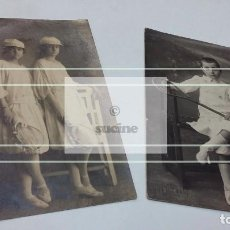 Fotografía antigua: DOS BONITAS Y ANTIGUAS FOTOGRAFIAS DE JUGADORES DE TENIS DE 1910. Lote 198015336