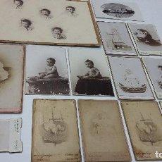 Fotografía antigua: COLECCION N 19 DE 14 FOTOGRAFIAS ANTIGUAS DE BEBES DAGUEROTIPO SOBRE CARTON DURO. Lote 198015952
