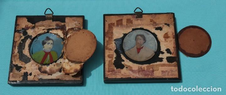 Fotografía antigua: Pareja de fotografías repintadas. Pair of Ambrotype photographs. - Foto 7 - 204426091