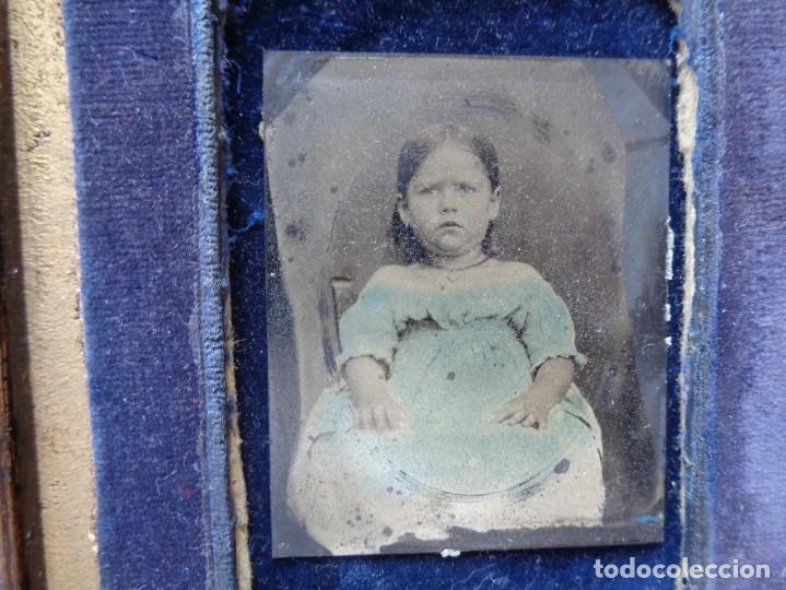 Fotografía antigua: FERROTIPO DE NIÑA - Foto 3 - 204552908
