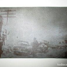 Fotografía antigua: CLICHÉ FOTOGRÁFICO SOBRE METAL. ATASCO POR LA NIEVE EN EL PUERTO DE PAJARES. CIRCA 1949.. Lote 205595180
