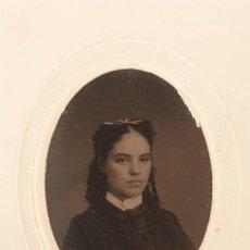 Fotografía antigua: 1868 FERROTIPO AMERICANO TIPO CDV FECHADO EN EL REVERSO. Lote 205709382