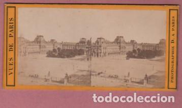 FOTO CARTÓN DURO ESTEROSCOPICA DE UNA VISTA DE PARIS (Fotografía Antigua - Ambrotipos, Daguerrotipos y Ferrotipos)