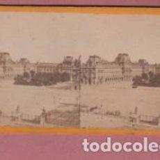 Fotografía antigua: FOTO CARTÓN DURO ESTEROSCOPICA DE UNA VISTA DE PARIS. Lote 205802072