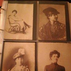 Fotografía antigua: FOTOGRAFIAS MUJERES ENTRE 1860-1880 FOTOGRAFO ESPLUGAS ORIGINALES 46 FOTOS. Lote 210695789