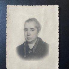 Fotografía antigua: ANTIGUA FOTO RETRATO FIFUNINADA MUJER AÑOS 30 9,5 X6,4 CM. Lote 213943196