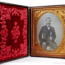 Fotografía antigua: DAGUERREOTIPO 1/4 DE PLACA EN ESTUCHE 9,6X12 CM. 1850'S.. Lote 218522351