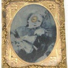Fotografía antigua: 441-MUY ANTIGUO PORTA RETRATO CON AMBROTIPO,SIGLO XIX,OBJETO MUY INTERESANTE Y RARO. Lote 219495563