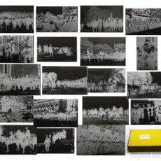 Fotografía antigua: 19 NEGATIVOS EN CRISTALES. VIAJE DE ALFONSO XIII A PARIS 1905. 14,5X9 APROX.. Lote 219744650