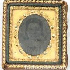 Fotografía antigua: 456-MUY ANTIGUO PORTA RETRATO CON FERROTIPO,MEDIADOS SIGLO XIX,OBJETO MUY INTERESANTE Y RARO. Lote 220772353
