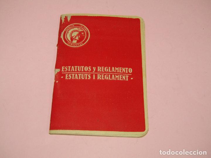 ANTIGUO LIBRITO ESTATUTOS Y REGLAMENTO DEL ATENEO POPULAR VALENCIANO - GUERRA CIVIL AÑO 1937 (Fotografía Antigua - Ambrotipos, Daguerrotipos y Ferrotipos)
