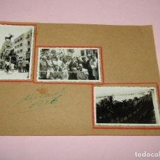 Fotografía antigua: ANTIGUAS FOTOGRAFÍAS HOGUERAS DE ALICANTE DEL AÑO 1946 COMISIÓN FALLAS DE VALENCIA. Lote 237916565