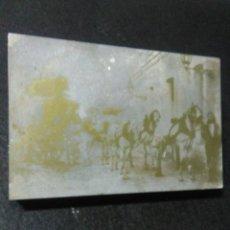 Fotografía antigua: ANTIGUA FOTOGRAFIA ESTACION DE FERROCARRIL LLIRIA ,CURIOSO CLICHE DE METAL Y MADERA ,. Lote 241392400