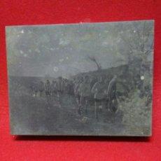 Fotografía antigua: ANTIGUA FOTOGRAFIA O CLICHE DE IMPRENTA ,PARTIDO DE FUTBOL ,LLIRIA CONTRA EL VALENCIA ,. Lote 245606805