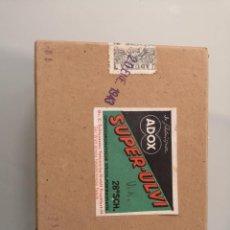Fotografía antigua: LOTE 11 NEGATIVOS EN CRISTAL 1943 EN CAJA ORIGINAL ADOX SUPER-ULVI ZEISS IKON, SELLO ADUANA. Lote 261170895