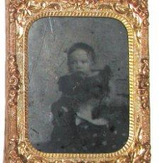 Fotografía antigua: 411-MUY ANTIGUO PORTA RETRATO CON AMBROTIPO,SIGLO XIX,OBJETO MUY INTERESANTE Y RARO. Lote 261698775