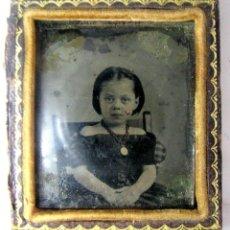 Fotografía antigua: 4A-MUY ANTIGUO PORTA RETRATO CON AMBROTIPO,SIGLO XIX,OBJETO MUY INTERESANTE Y RARO. Lote 261801845